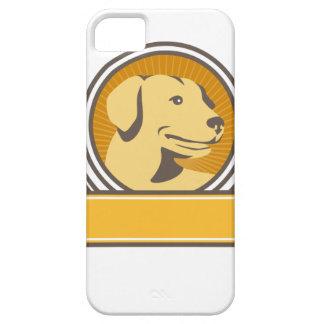 Capa Barely There Para iPhone 5 Círculo amarelo da cabeça do golden retriever de