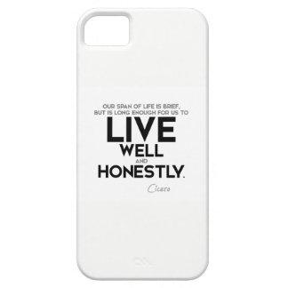Capa Barely There Para iPhone 5 CITAÇÕES: Cicero: Viva bem e honesta