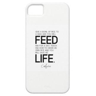 Capa Barely There Para iPhone 5 CITAÇÕES: Confucius: Ensine-o, salvar sua vida