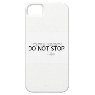 Capa Barely There Para iPhone 5 CITAÇÕES: Confucius: Não pare
