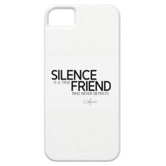 Capa Barely There Para iPhone 5 CITAÇÕES: Confucius: O silêncio é um amigo