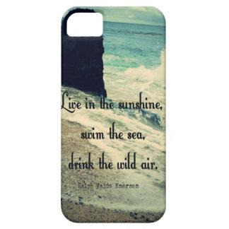 Capa Barely There Para iPhone 5 Citações do mar do oceano da luz do sol