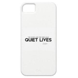 Capa Barely There Para iPhone 5 CITAÇÕES: Euripides: Vidas quietas