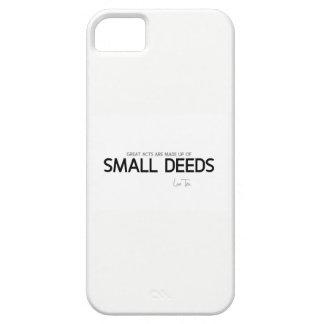 Capa Barely There Para iPhone 5 CITAÇÕES: Lao Tzu: Grandes atos, ações pequenas