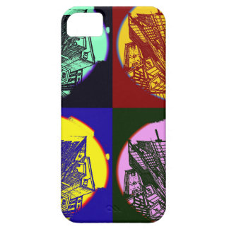 Capa Barely There Para iPhone 5 city 3 point art perspective style pop