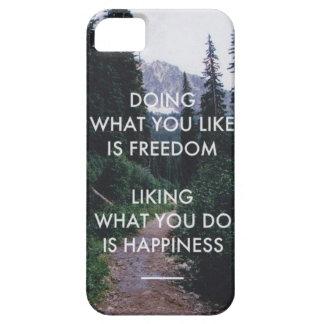 Capa Barely There Para iPhone 5 Cobrir da felicidade