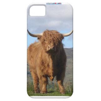 Capa Barely There Para iPhone 5 Cobrir do telefone de Bull das montanhas