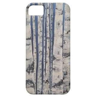 Capa Barely There Para iPhone 5 Código Morse das árvores de vidoeiro