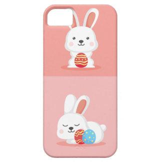 Capa Barely There Para iPhone 5 Coelhinhos da Páscoa engraçados bonitos no rosa