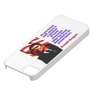 Capa Barely There Para iPhone 5 Como você sabe bem - Ronald Reagan