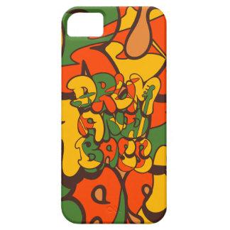 Capa Barely There Para iPhone 5 cor da reggae do cilindro e do baixo - logotipo,