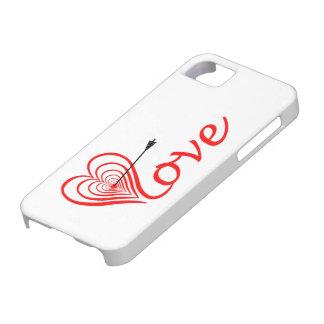 Capa Barely There Para iPhone 5 Coração amor alvo com seta