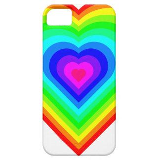 Capa Barely There Para iPhone 5 Coração do arco-íris