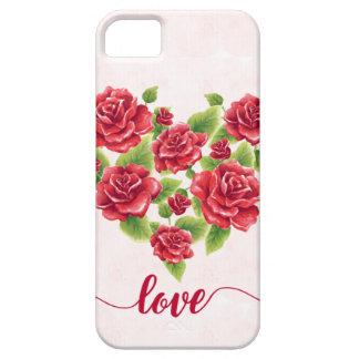 Capa Barely There Para iPhone 5 Coração do vintage do fundo cor-de-rosa pintado