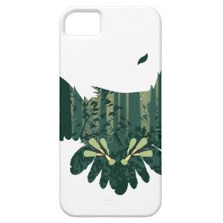 Capa Barely There Para iPhone 5 Coruja e paisagem da floresta do abstrato