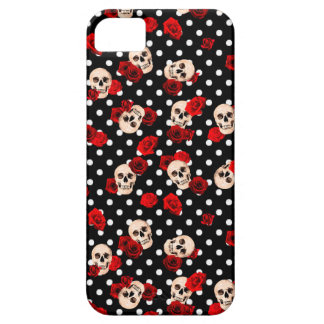 Capa Barely There Para iPhone 5 Crânios e rosas