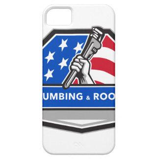 Capa Barely There Para iPhone 5 Crista da bandeira dos EUA da chave de tubulação