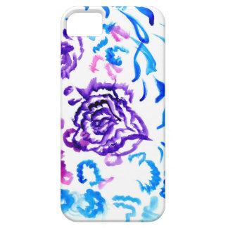 Capa Barely There Para iPhone 5 Cursos coloridos 4 das flores