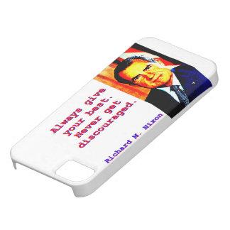 Capa Barely There Para iPhone 5 Dê sempre seu melhor - Richard Nixon