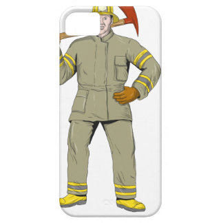 Capa Barely There Para iPhone 5 Desenho americano do machado do fogo do