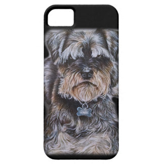 Capa Barely There Para iPhone 5 Desenho da arte do cão de Terrier