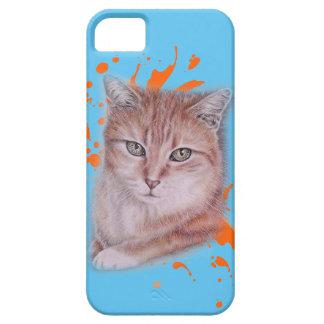 Capa Barely There Para iPhone 5 Desenho do gato e da pintura alaranjados de gato