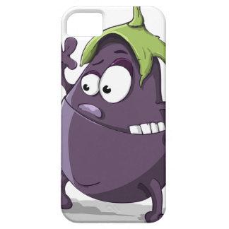 Capa Barely There Para iPhone 5 Desenhos animados Toothy Eyed da beringela vegetal