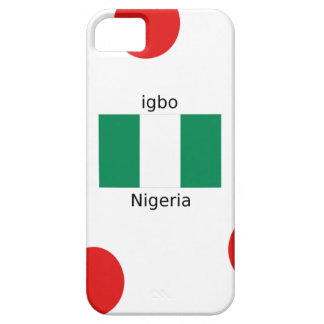 Capa Barely There Para iPhone 5 Design da língua da bandeira e do Igbo de Nigéria