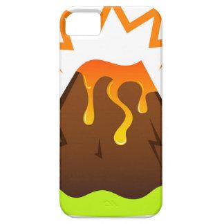 Capa Barely There Para iPhone 5 Design da sala dos miúdos da lava da erupção