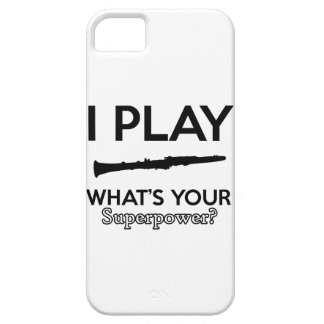 Capa Barely There Para iPhone 5 design do clarinete