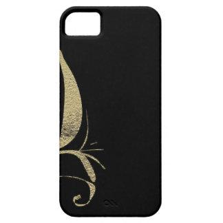 Capa Barely There Para iPhone 5 Design do teste padrão do Flourish do preto e do