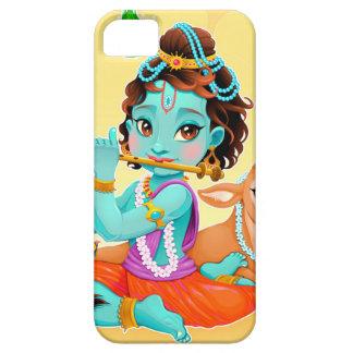 Capa Barely There Para iPhone 5 Deus indiano de Krishna que joga a ilustração da