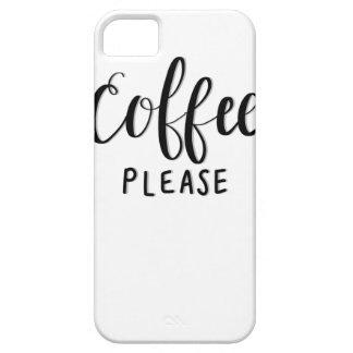 Capa Barely There Para iPhone 5 Do CAFÉ caligrafia POR FAVOR