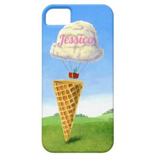 """Capa Barely There Para iPhone 5 Do """"flutuador sorvete"""" que pinta"""