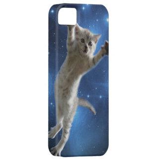 Capa Barely There Para iPhone 5 Dois gatos do espaço que flutuam em torno da