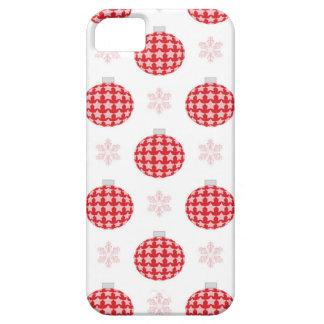 Capa Barely There Para iPhone 5 Enfeites de natal vermelhos