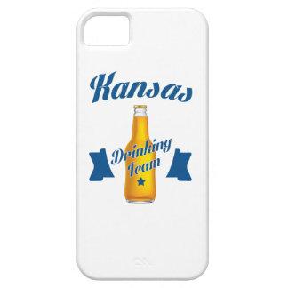 Capa Barely There Para iPhone 5 Equipe do bebendo de Kansas