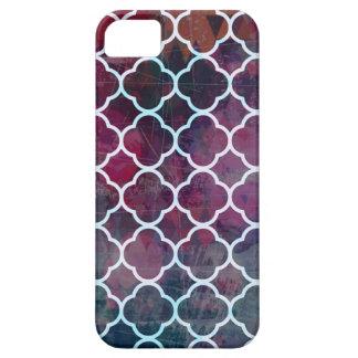 Capa Barely There Para iPhone 5 Estilo cor-de-rosa do marroquino do Grunge