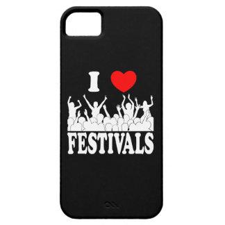 Capa Barely There Para iPhone 5 Eu amo os festivais (brancos)