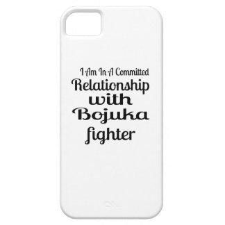 Capa Barely There Para iPhone 5 Eu estou em uma relação cometida com luta de
