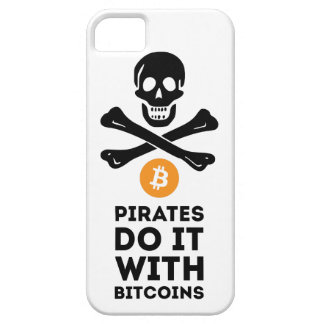 Capa Barely There Para iPhone 5 Exemplo do pirata de Bitcoin