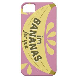 Capa Barely There Para iPhone 5 Expressão engraçada da ilustração eu sou bananas