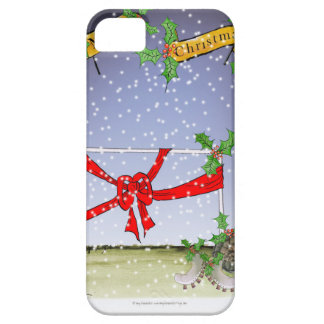 Capa Barely There Para iPhone 5 fan de futebol do Natal feliz