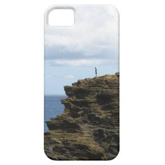 Capa Barely There Para iPhone 5 Figura solitário em um penhasco