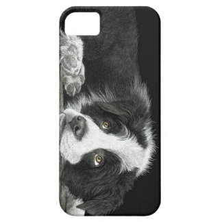 "Capa Barely There Para iPhone 5 Filhote de cachorro de border collie - ""diga-me"