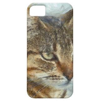 Capa Barely There Para iPhone 5 Fim impressionante do gato de gato malhado acima