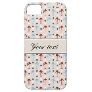 Capa Barely There Para iPhone 5 Flamingos e teste padrão de bolinhas