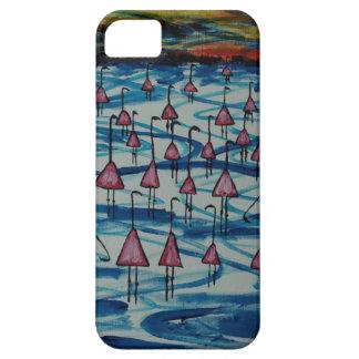 Capa Barely There Para iPhone 5 Flamingos no lago salgado