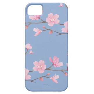 Capa Barely There Para iPhone 5 Flor de cerejeira - azul da serenidade