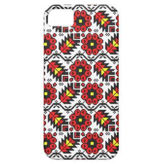 Capa Barely There Para iPhone 5 Flor floral do ponto de cruz da arte do folclore